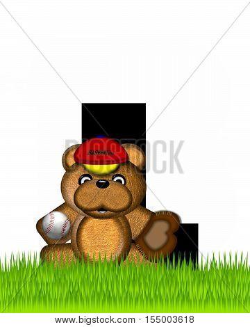 Alphabet Teddy Baseball L