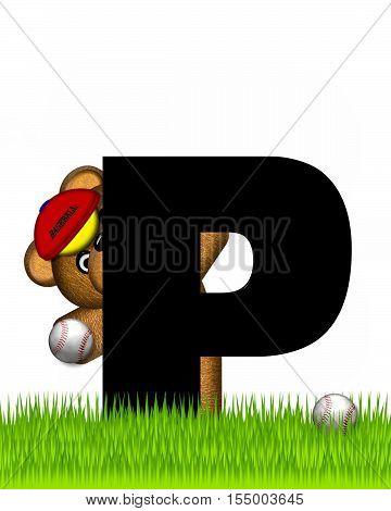 Alphabet Teddy Baseball P