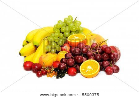 Fresh fruit isolated on a white background