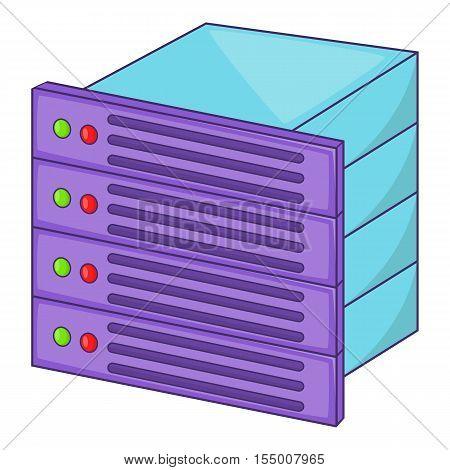 Database icon. Cartoon illustration of database vector icon for web design
