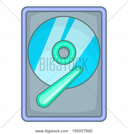 Hard drive disk icon. Cartoon illustration of hard drive disk vector icon for web design