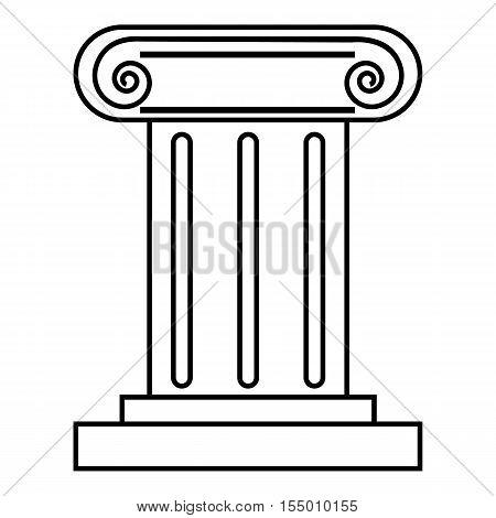 Roman pillar icon. Outline illustration of roman pillar vector icon for web