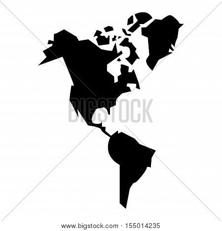 Continents of planet icon. Earth world map and cartography theme. Isolated design. Vector illustration
