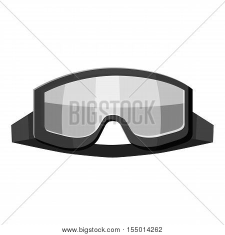 Military goggles icon. Gray monochrome illustration of military goggles vector icon for web