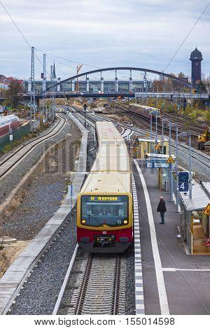 Ostkreuz S-bahn Suburban Railway Station In Berlin, Germany