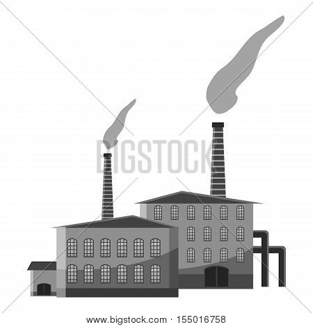 Chemical plant icon. Gray monochrome illustration of chemical plant vector icon for web