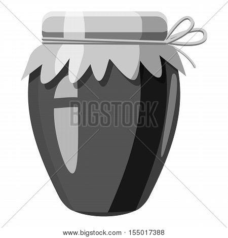 Jar icon. Gray monochrome illustration of jar vector icon for web