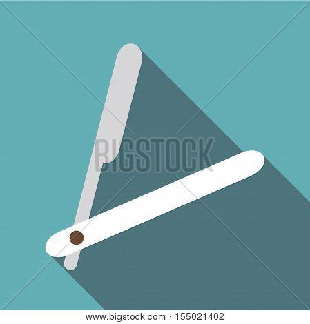 Straight razor icon. Flat illustration of straight razor vector icon for web