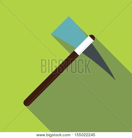 Pick axe tool icon. Flat illustration of pick axe tool vector icon for web