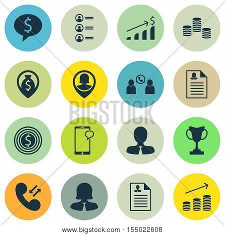 Set Of Human Resources Icons On Money, Tournament And Job Applicants Topics. Editable Vector Illustr
