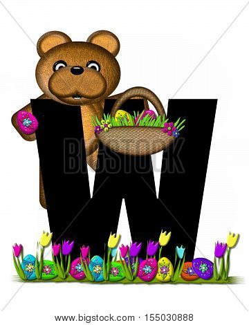 Alphabet Teddy Easter Egg Hunt W