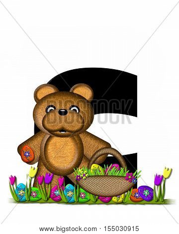 Alphabet Teddy Easter Egg Hunt C