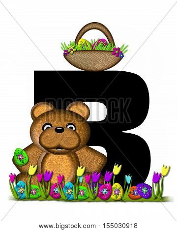Alphabet Teddy Easter Egg Hunt B