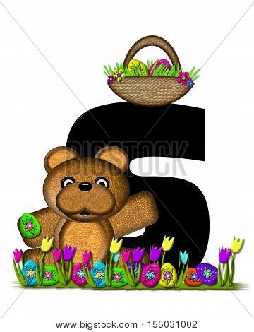 Alphabet Teddy Easter Egg Hunt S