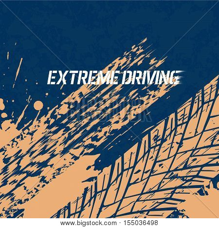 On the image presented tread of automobile wheels texture from splashes