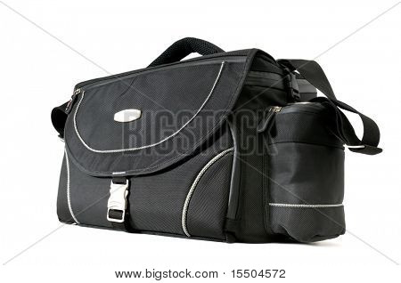 bag for a camera isolated on a white background