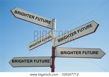 Sign Post to a brighter future