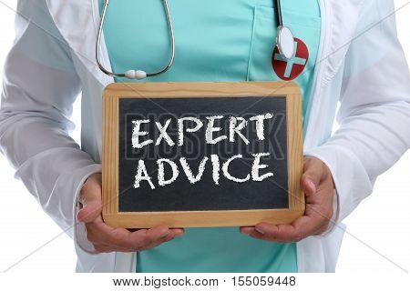Expert Advice Young Doctor Medicine Disease Ill Illness