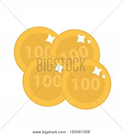 gold coins icon. gold coins flat style. gold coins isolated on white background. gold coins logo. Vector illustration