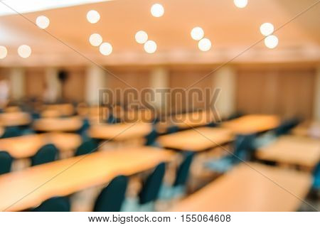 Empty meeting or conference room blurred for background