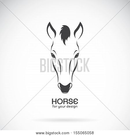 Vector image of a horse head design on white background Vector horse logo. Wild Animals. Horse Farm