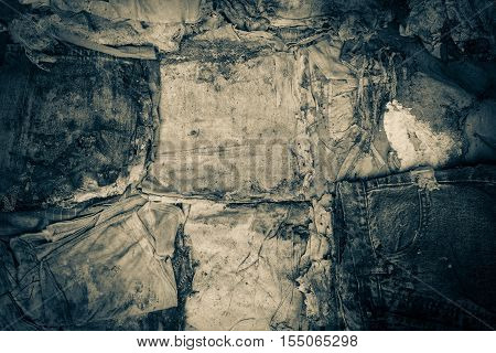 old clothes disintegrated as texture and background