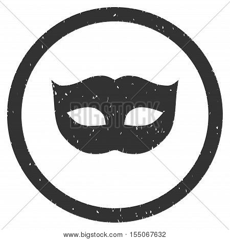 Privacy Mask rubber seal stamp watermark. Icon vector symbol with grunge design and unclean texture. Scratched gray ink emblem on a white background.