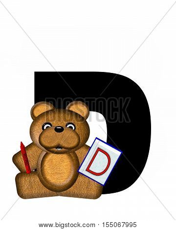 Alphabet Teddy Homework D