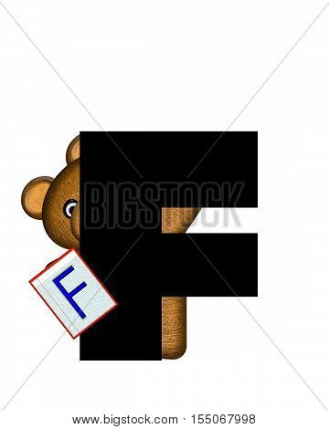 Alphabet Teddy Homework F