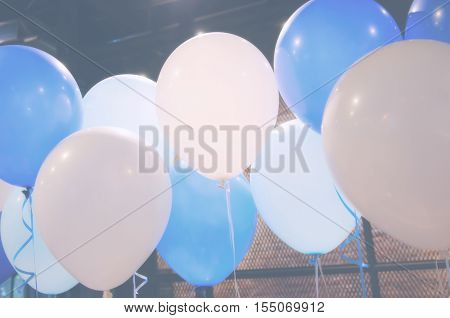 Balloons decorate in the party - Stock Photo