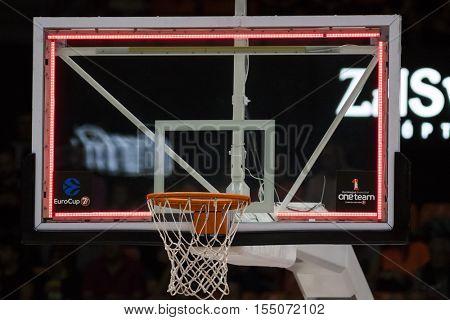 VALENCIA, SPAIN - NOVEMBER 2nd: Eurocup match between Valencia Basket and Union Olimpija Ljubljana at Fonteta Stadium on November 2, 2016 in Valencia, Spain