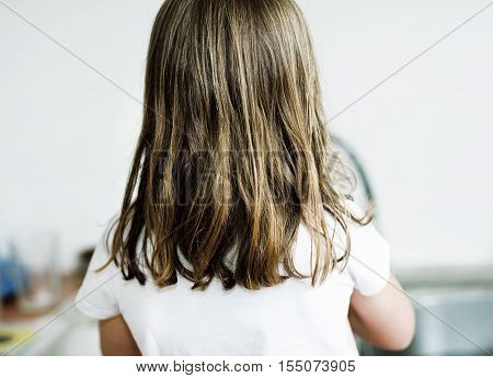 Little Girl With Back Turned