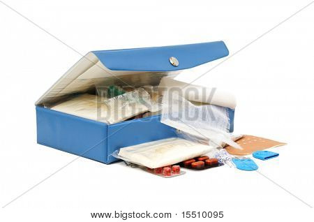 first aid kit isolated on a white
