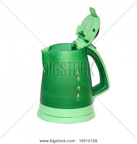 Electric kettle for boiling waters isolated on a white