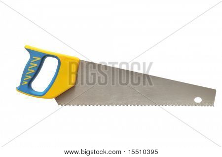 wood-working saw isolated on a white