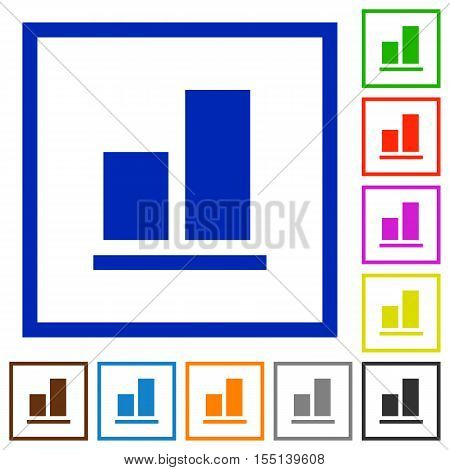 Align to bottom flat color icons in square frames