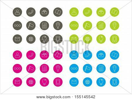icon collection business series 2 template vector