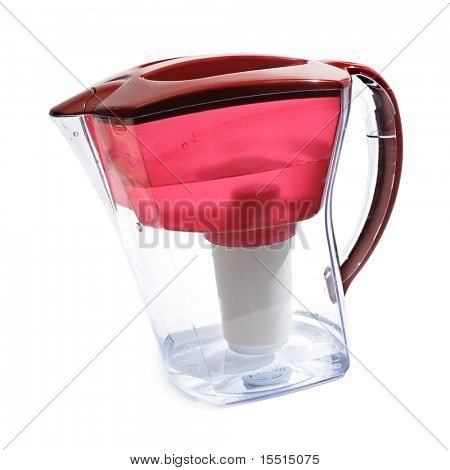 Water filter isolated on a white background.