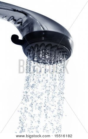 shower isolated on a white
