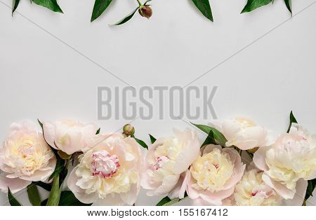 Wedding invitation or bridal shower invitation or Mother's Day card mockup decorated with flower frame blank space for a text