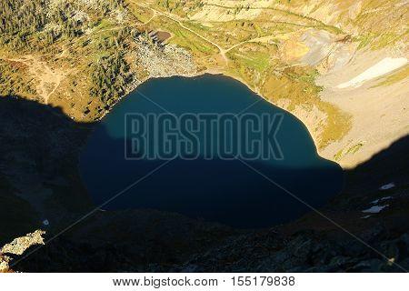 Nature, landscape, mountain landscape, pasur, rocks, summer, stones, mountain, rock, scree, types, Kazakhstan, ridges, lakes, mountain lake, water, summer