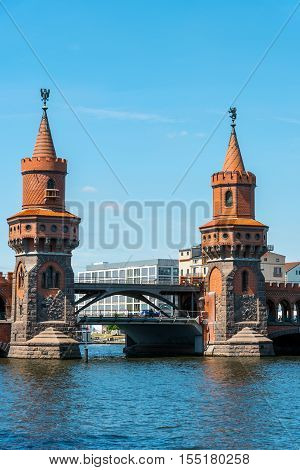 The beautiful towers of the Oberbaumbruecke in Berlin, Germany