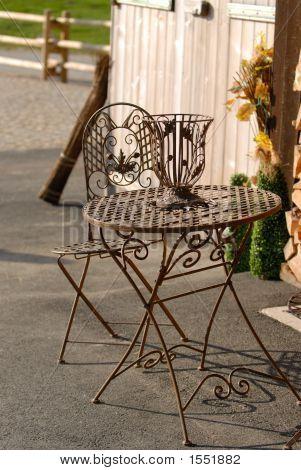 Delicate Metal Table