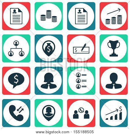 Set Of Management Icons On Tournament, Manager And Money Topics. Editable Vector Illustration. Inclu