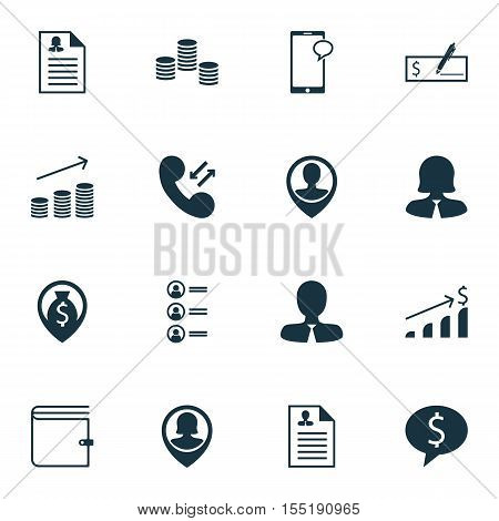 Set Of Hr Icons On Cellular Data, Bank Payment And Successful Investment Topics. Editable Vector Ill