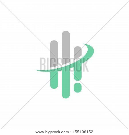Abstract Wave Form lines shape, Technology Business Concept