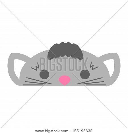 Cartoon cat domestic animal. Cartoon kitty character, adorable vector cat. Cartoon feline cat funny mammal pet. Fuffy kitty friend vector