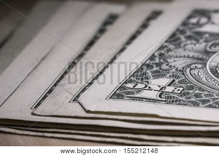 US one dollar bill closeup macro, 1 usd banknote, united states money. Suitable for financial, monetary, economic concepts and ideas
