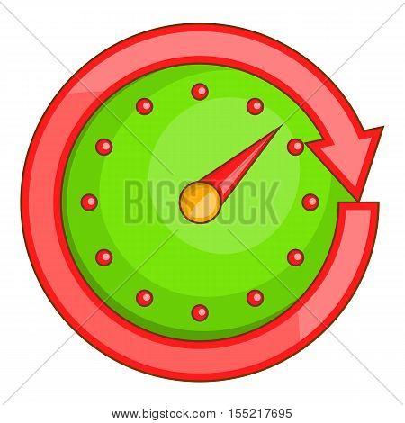 Automobile speedometer icon. Cartoon illustration of speedometer vector icon for web design