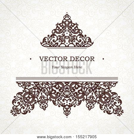 Vector Floral Vignette In Victorian Style.